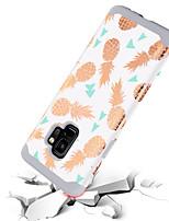 Недорогие -BENTOBEN Кейс для Назначение SSamsung Galaxy S9 Защита от удара / С узором Кейс на заднюю панель Фрукты Твердый ПК / силикагель для S9