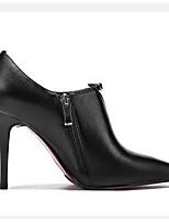 Недорогие -Жен. Комфортная обувь Замша / Наппа Leather Весна Обувь на каблуках На шпильке Черный / Бежевый