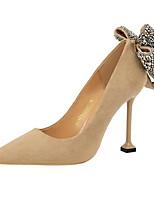 Недорогие -Жен. Комфортная обувь Замша Весна Обувь на каблуках На шпильке Зеленый / Розовый / Хаки / Повседневные