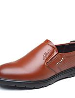 Недорогие -Муж. Комфортная обувь Полиуретан Осень Деловые Мокасины и Свитер Доказательство износа Черный / Коричневый