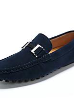 billiga -Herr Mockasin Läder Vår Ledigt / Brittisk Loafers & Slip-Ons Massage Svart / Grå / Blå
