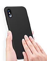 Недорогие -Кейс для Назначение Apple iPhone XS / iPhone XS Max Ультратонкий Кейс на заднюю панель Однотонный Твердый ПК для iPhone XS / iPhone XR / iPhone XS Max