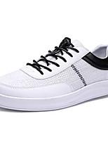 Недорогие -Муж. Комфортная обувь Лён / Полиуретан Осень На каждый день Кеды Нескользкий Контрастных цветов Белый / Бежевый / Зеленый