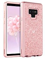 billiga -BENTOBEN fodral Till Samsung Galaxy Note 9 Stötsäker / Glittrig / Wireless Charging Receiver Case Fodral Enfärgad / Glittrig Hårt TPU / PC för Note 9