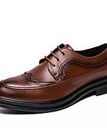 Недорогие -Муж. Обувь Bullock Полиуретан Осень Английский Туфли на шнуровке Нескользкий Черный / Коричневый