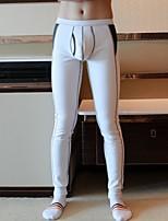 abordables -Homme Normal Polyester De Genre Neutre Caleçon Couleur Pleine Jacquard Taille basse
