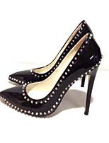 abordables -Femme Chaussures de confort Polyuréthane Eté Chaussures à Talons Talon Aiguille Noir