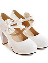 Недорогие -Жен. Балетки Наппа Leather / Лакированная кожа Весна Обувь на каблуках На шпильке Белый / Черный / Красный