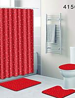 abordables -1 set Décontracté Tapis Anti-Dérapants Polyester Elastique Tissé 100g / m2 Nouveauté Rectangle Salle de Bain Créatif