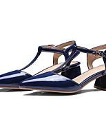 Недорогие -Жен. Комфортная обувь Полиуретан Лето Обувь на каблуках На толстом каблуке Красный / Синий / Розовый