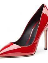 Недорогие -Жен. Комфортная обувь Лакированная кожа Зима Обувь на каблуках На шпильке Черный / Серебряный / Красный