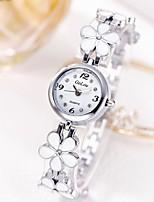 baratos -Mulheres Bracele Relógio Quartzo Relógio Casual Aço Inoxidável Banda Analógico Flor Casual Prata / Dourada - Prata Dourado