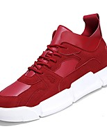 Недорогие -Муж. Комфортная обувь Полиуретан Осень Кеды Белый / Черный / Красный