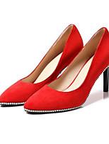 abordables -Femme Escarpins Daim / Cuir Nappa Printemps Chaussures à Talons Talon Aiguille Noir / Rouge