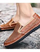 abordables -Homme Chaussures de confort Maille Eté Mocassins et Chaussons+D6148 Marron / Vert / Bleu