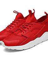 Недорогие -Муж. Обувь Bullock Эластичная ткань Весна & осень На каждый день Кеды Дышащий Черный / Черно-белый / Красный