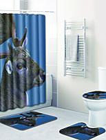baratos -1conjunto Modern Tapetes Anti-Derrapantes Poliéster Elástico Tricotado 100g / m2 Animal Retângular Banheiro Adorável