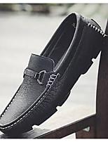 Недорогие -Муж. Комфортная обувь Микроволокно Весна & осень Мокасины и Свитер Белый / Черный / Красный