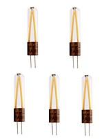 billiga -5pcs 2 W 200 lm G4 LED-lampor med G-sockel T 2 LED-pärlor COB Dekorativ Varmvit / Kallvit 220-240 V
