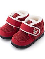 Недорогие -Мальчики / Девочки Обувь Искусственный мех Зима Удобная обувь / Обувь для малышей Ботинки для Дети (1-4 лет) Темно-синий / Пурпурный / Красный
