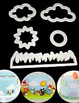 baratos -Ferramentas bakeware Plástico Fofo / Criativo Uso Diário / Bolo Cubo Moldes de bolos 5pçs