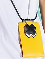 Недорогие -Жен. Мешки PU Мобильный телефон сумка Геометрический принт Черный / Розовый / Желтый
