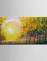 abordables -Peinture à l'huile Hang-peint Peint à la main - Paysage Moderne Toile