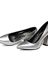 Недорогие -Жен. Балетки Наппа Leather Весна Обувь на каблуках На толстом каблуке Серебряный / Серый / Розовый