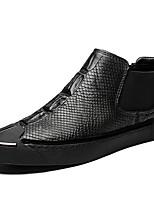 Недорогие -Муж. Кожаные ботинки Наппа Leather Осень На каждый день / Английский Кеды Сохраняет тепло Черный