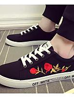 Недорогие -Муж. Комфортная обувь Полотно Весна & осень Кеды Белый / Черный и золотой / Черно-белый