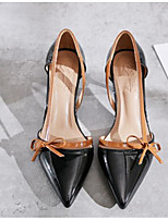 baratos -Mulheres Sapatos Confortáveis Couro Ecológico Primavera Saltos Salto Agulha Preto / Bege / Amêndoa