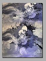 abordables -Peinture à l'huile Hang-peint Peint à la main - Abstrait / Paysage Contemporain / Moderne Toile