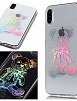 abordables -Coque Pour Apple iPhone XR / iPhone XS Max IMD / Transparente / Motif Coque Animal Flexible TPU pour iPhone XS / iPhone XR / iPhone XS Max