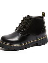 Недорогие -Жен. Армейские ботинки Полиуретан Наступила зима Ботинки На толстом каблуке Ботинки Черный / Красный