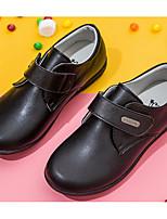 Недорогие -Девочки Обувь Кожа Весна & осень Удобная обувь Мокасины и Свитер для Дети / Для подростков Черный