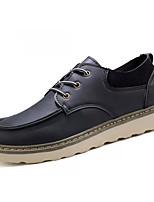 Недорогие -Муж. Комфортная обувь Полиуретан Осень На каждый день Кеды Дышащий Черный / Желтый / Коричневый