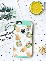 baratos -BENTOBEN Capinha Para Apple Capinha iPhone 5 Antichoque / Estampada Capa traseira Fruta Rígida TPU / PC para iPhone SE / 5s / iPhone 5
