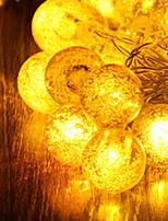 baratos -2m Cordões de Luzes 20 LEDs Amarelo Decorativa Baterias AA alimentadas 1conjunto