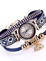 abordables -Femme Montre Bracelet Quartz Design nouveau Montre Décontractée Alliage Bande Analogique Mode Elégant Noir / Blanc / Bleu - Marron Rouge Bleu Un ans Autonomie de la batterie