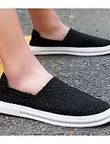 Недорогие -Муж. Комфортная обувь Полотно Лето Мокасины и Свитер Черный / Темно-синий / Серый
