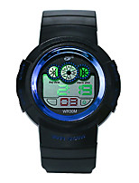 baratos -Homens Relógio Esportivo Digital 30 m Impermeável Noctilucente Legal Silicone Banda Digital Luxo Fashion Preta - Verde Azul Ouro Rose
