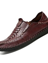 baratos -Homens Sapatos Confortáveis Couro Ecológico Outono Oxfords Preto / Amarelo / Marron / Festas & Noite