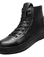 Недорогие -Муж. Комфортная обувь Полиуретан Осень На каждый день Кеды Нескользкий Белый / Черный / Черно-белый