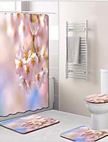 Недорогие -1 комплект Modern Коврики для ванны 100 г / м2 полиэфирный стреч-трикотаж Цветочный принт Прямоугольная Ванная комната обожаемый