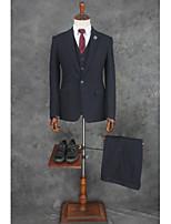 abordables -Couleur Pleine / Rayé Coupe Sur-Mesure Coton / Polyester Costume - En Pointe Fin Droit 1 bouton