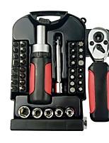 baratos -40-piece short handle set tool sleeve lote cabeça caixa transparente catraca chave ajustável ferramenta de reparo