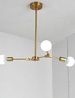 Недорогие -гальваническая северная европейская люстра 3-х голова современные металлические молекулы подвесные светильники гостиная столовая спальня