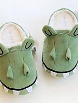 Недорогие -Женские тапочки Домашние тапки На каждый день Махровая ткань Анималистический принт