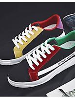 Недорогие -Муж. Комфортная обувь Полотно Весна & осень Кеды Белый / Черный