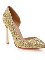 baratos -Mulheres Sapatos Confortáveis Sintéticos Primavera Saltos Salto Agulha Branco / Preto / Prateado
